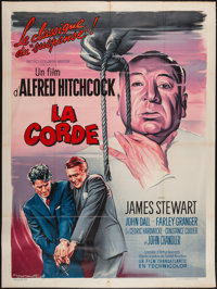 """Rope (MGM, R-1950s). French Grande (47"""" X 63""""). Hitchcock"""