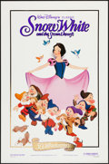 "Movie Posters:Animation, Snow White and the Seven Dwarfs (Buena Vista, R-1987). One Sheet(27"" X 41"") 50th Anniversary Gold Foil Style. Animation.. ..."