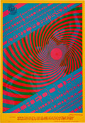 "Music Memorabilia:Posters, Doors/Miller Blues Band ""Swirly"" Avalon Ballroom Concert PosterFD-57 (Family Dog, 1967)...."