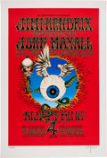Music Memorabilia:Posters, Jimi Hendrix Experience/John Mayall Concert Poster Limited EditionSigned Art Print #165/500 (ArtRock, c. 1980s)....