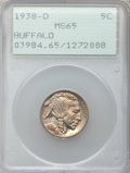 Buffalo Nickels: , 1938-D 5C MS65 PCGS. PCGS Population (23030/29721). NGC Census:(6579/21660). Mintage: 7,020,000. Numismedia Wsl. Price for...