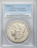 Morgan Dollars: , 1893-CC $1 -- Scratched -- PCGS Genuine. VF Details. NGC Census:(128/2557). PCGS Population (204/4659). Mintage: 677,000. ...