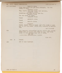A Continuity Script From Gone With The Wind Movietv Lot
