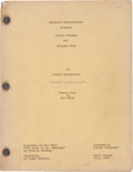 "Movie/TV Memorabilia:Documents, A Script from ""Spellbound.""..."