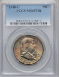 Franklin Half Dollars: , 1948-D 50C MS65 Full Bell Lines PCGS. PCGS Population (1623/144).NGC Census: (609/61). Numismedia Wsl. Price for problem ...