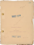"Movie/TV Memorabilia:Documents, A Lon Chaney-Related Script from the Lost Silent Film ""The Tower of Lies.""..."