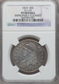 Bust Half Dollars, 1810 50C -- Improperly Cleaned -- NGC Details. VF. O-110. NGCCensus: (10/631). PCGS Population (29/674). Mintage: 1,276,2...
