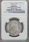 Bust Half Dollars: , 1824/4 50C -- Improperly Cleaned -- NGC Details. VF. O-110. NGCCensus: (0/117). PCGS Population (8/145). ...