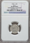 Bust Dimes, 1835 10C -- Improperly Cleaned -- NGC Details. XF. JR-9. NGCCensus: (14/420). PCGS Population (48/422). Mintage: 1,410,00...