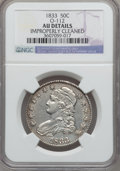 Bust Half Dollars, 1833 50C -- Improperly Cleaned -- NGC Details. AU. O-112. NGCCensus: (80/964). PCGS Population (156/877). Mintage: 5,206,...