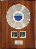 Music Memorabilia:Awards, Diana Ross and the Supremes Greatest Hits Original PlatinumMotown Record Award Presented to Cindy Birdsong of The Sup...