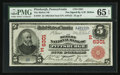 National Bank Notes:Pennsylvania, Pittsburgh, PA - $5 1902 Red Seal Fr. 587 The Mellon NB Ch. # (E)6301. ...