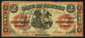 Canadian Currency: , Clifton, PC - The Bank of Clifton $2 Sep. 1, 1861 Ch. 125-12-12....