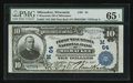 National Bank Notes:Wisconsin, Milwaukee, WI - $10 1902 Plain Back Fr. 635 First Wisconsin NB Ch. # (M)64. ...