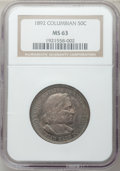 Commemorative Silver: , 1892 50C Columbian MS63 NGC. NGC Census: (1124/2847). PCGSPopulation (1667/2693). Mintage: 950,000. Numismedia Wsl. Price ...
