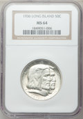 Commemorative Silver: , 1936 50C Long Island MS64 NGC. NGC Census: (1845/1558). PCGSPopulation (2279/1685). Mintage: 81,826. Numismedia Wsl. Price...