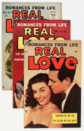 Golden Age (1938-1955):Romance, Real Love Group (Ace Periodicals, 1954-56) Condition: AverageVF/NM.... (Total: 5 Comic Books)