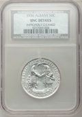 Commemorative Silver, 1936 50C Albany -- Improperly Cleaned -- NCS. UNC Details. NGCCensus: (1/2822). PCGS Population (1/4639). Mintage: 17,671....