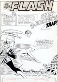 Original Comic Art:Splash Pages, Carmine Infantino The Flash #124 Splash Page 1 Original Art(DC, 1961).... (Total: 2 Items)