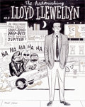 Original Comic Art:Covers, Dan Clowes Lloyd Llewellyn #3 Cover Original Art(Fantagraphics, 1986)....