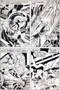 """Original Comic Art:Panel Pages, Jack Kirby and Vince Colletta Thor #161 """"Shall a GodPrevail"""" Page 4 Original Art (Marvel, 1969)...."""