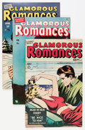 Golden Age (1938-1955):Romance, Glamorous Romances Group (Ace, 1949-56) Condition: Average FN....(Total: 10 Comic Books)
