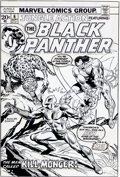 Original Comic Art:Covers, Rich Buckler and Frank Giacoia Jungle Action #6 BlackPanther Cover Original Art (Marvel, 1973)....