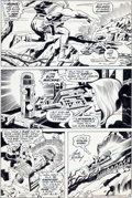 Original Comic Art:Panel Pages, Jack Kirby and Mike Royer Kamandi, The Last Boy on Earth #40Sun Machine Page 16 Original Art (DC, 1976)....