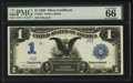 Large Size:Silver Certificates, Fr. 233 $1 1899 Silver Certificate PMG Gem Uncirculated 66 EPQ.. ...