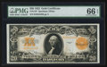 Large Size:Gold Certificates, Fr. 1187 $20 1922 Gold Certificate PMG Gem Uncirculated 66 EPQ.....