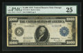 Large Size:Federal Reserve Notes, Fr. 1133-G $1,000 1918 Federal Reserve Note PMG Very Fine 25.. ...