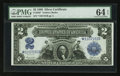 Fr. 256* $2 1899 Silver Certificate Star Note PMG Choice Uncirculated 64 EPQ