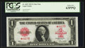 Fr. 40* $1 1923 Legal Tender Star Note PCGS Choice New 63PPQ