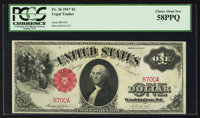 Fr. 36 $1 1917 Legal Tender PCGS Choice About New 58PPQ