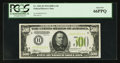 Small Size:Federal Reserve Notes, Fr. 2201-H $500 1934 Light Green Seal Federal Reserve Note. PCGS Gem New 66PPQ.. ...