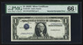 Error Notes:Inverted Third Printings, Fr. 1613N $1 1935D Narrow Silver Certificate. PMG Gem Uncirculated66 EPQ.. ...