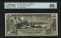 Large Size:Silver Certificates, Fr. 224 $1 1896 Silver Certificate PMG Gem Uncirculated 66 EPQ.. ...