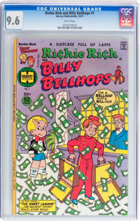 Richie Rich and Billy Bellhops #1 (Harvey, 1977) CGC NM+ 9.6 White pages