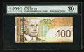 "Canadian Currency: , BC-66a $100 2004 with ""Radar"" Serial Number 9666669. ..."