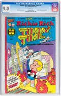 Bronze Age (1970-1979):Cartoon Character, Richie Rich Meets Timmy Time #1 (Harvey, 1977) CGC VF/NM 9.0 Whitepages....