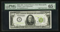 Small Size:Federal Reserve Notes, Fr. 2201-I $500 1934 Light Green Seal Federal Reserve Note. PMG Gem Uncirculated 65 EPQ.. ...
