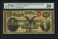 Large Size:Compound Interest Treasury Notes, Fr. 190b $10 1864 Compound Interest Treasury Note PMG Very Fine 20 Net.. ...