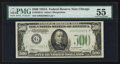 Small Size:Federal Reserve Notes, Fr. 2202-G $500 1934A Federal Reserve Note. PMG About Uncirculated 55.. ...