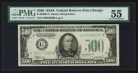 Fr. 2202-G $500 1934A Federal Reserve Note. PMG About Uncirculated 55