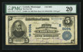 National Bank Notes:Mississippi, Corinth, MS - $5 1902 Plain Back Fr. 600 The First NB Ch. # (S)9094. ...