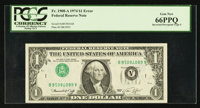 Fr. 1908-A $1 1974 Federal Reserve Note. PCGS Gem New 66PPQ
