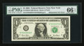 Fr. 1926-B $1 2001 Federal Reserve Note. PMG Gem Uncirculated 66 EPQ