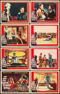 "The Day the Earth Stood Still (20th Century Fox, 1951). Lobby Card Set of 8 (11"" X 14""). ... (Total: 8 Items)"