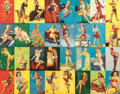 Pin-up and Glamour Art, AMERICAN ARTIST (20th Century). Elvgren Picture Montage.Offset color lithograph. 21 x 28 in.. Not signed. ...