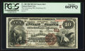 National Bank Notes:Pennsylvania, Gettysburg, PA - $10 1882 Brown Back Fr. 480 The Gettysburg NB Ch.# (E)611. ...